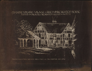Shakespeare Village Green & Recreation House, Portion of Proposed Recreation Center in the Fens, 1916