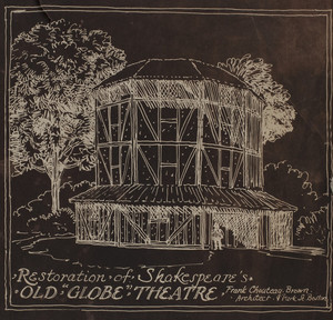 "Restoration of Shakespeare's Old ""Globe"" Theatre, 1916"