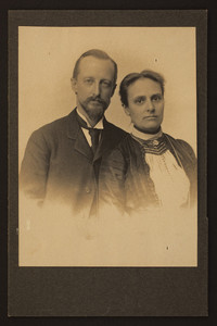 Double half-length portrait of John Charles and Sophia White Olmsted, location unknown, undated