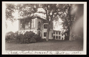 Postcard of the exterior of Castle Tucker, Wiscasset, Maine