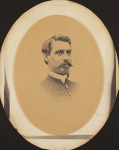 Head-and-shoulders portrait of Henry Fowler, facing right, location unknown, 1864