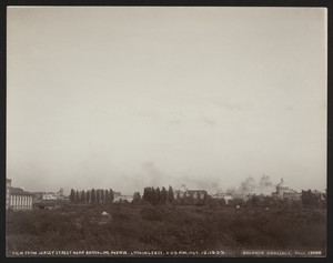 View from Jersey Street near Brookline Avenue, looking east, 3:30 p.m., Boston, Mass., October 12, 1909