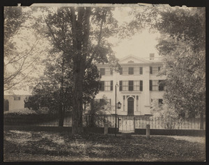 Exterior view of the Barrett House, New Ipswich, New Hampshire, October 1907