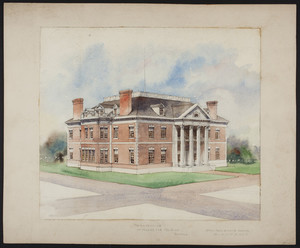 Perspective of a house for Mr. Ginn, Boston, undated