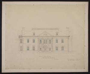 Front elevation, house for Mr. Ginn, Boston, undated