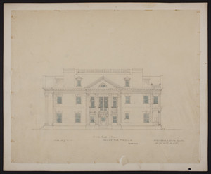 Side elevation, house for Mr. Ginn, Boston, undated