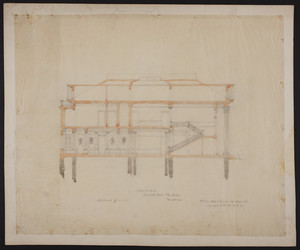 Section, house for Mr. Ginn, Boston, undated