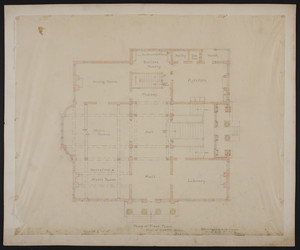 Plan of first floor, house for Mr. Ginn, Boston, undated