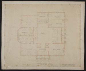 Plan of second floor, house for Mr. Ginn, Boston, undated