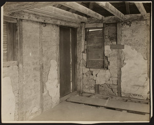 Interior view of the Browne House, chamber, Watertown, Mass., May 5, 1919