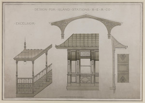 Boston Elevated Railroad station design competition drawings collection (AR024)