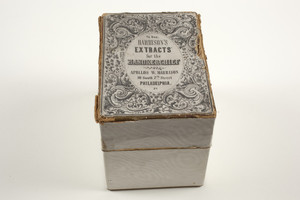 Box for Harrison's Extracts for the Handkerchief, Apollos W. Harrison, 10 South 7th Street, Philadelphia, Pa., undated
