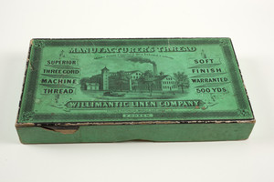 Box for Manufacturer's Thread, superior three cord machine thread, Willimantic Linen Company, Willimantic, Connecticut, undated