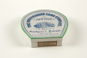 Box for Children's Long Combs no. 50, The India Rubber Comb Company, New York, New York, undated