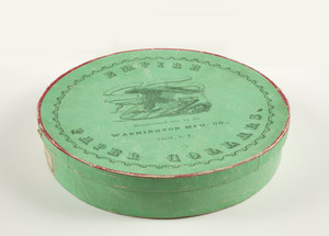 Box for Empire Paper Collars, manufactured only by the Washington Mfg. Co., Troy, New York, undated