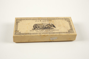 Box for J. & P. Coats Best Six Cord Spool Cotton thread, location unknown, undated