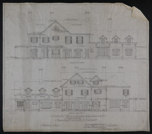 Set of architectural drawings of the Misses Amy M. and Edith M. Kohlsaat House, Oyster Bay, Long Island, New York, undated