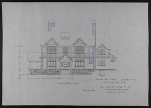 Set of architectural drawings for the James L. Suydam House, Tarrytown, New York, undated