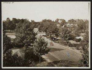 Arborway looking west from Forest Hills Station, Jamaica Plain, Mass., undated
