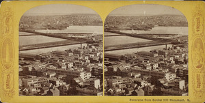 Panorama from Bunker Hill Monument, Charlestown, Mass., undated
