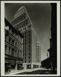 Exterior view of the United Shoe Machinery Company building, 160 Federal Street, Boston, Mass., undated