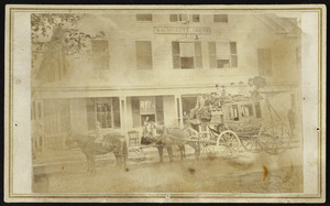 Stagecoach at Wachusett House, Princeton, Mass., undated