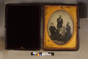 Group portrait of four generations of Josiah Quincys, one standing, two sitting, Boston Mass., 1859-1860