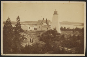 Exterior view of Dice Head Lighthouse, Castine, Maine, undated