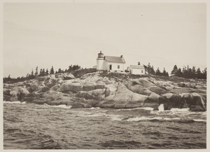 Exterior view of Heron Neck Lighthouse, Green Island, Maine, undated