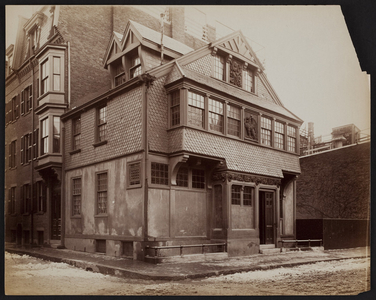 Exterior view of Frank Hill Smith House and Studio, corner of Mt. Vernon and River Streets, Boston, Mass., undated
