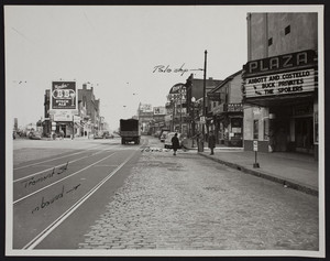 Roxbury Crossing, inbound stop, Tremont and Texas Streets, Roxbury, Mass., ca. 1948