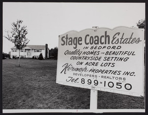 Exterior view of Stagecoach Estates House, Bedford, Mass., June 14, 1970