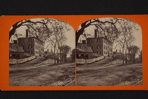Stereograph of the Old Derby Academy, 34 Main Street, Hingham, Mass., undated