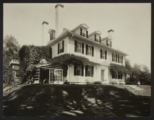 Exterior view of Hamilton House, South Berwick, Maine, undated