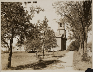 Exterior view of The First Church in Weymouth, Weymouth Heights, Mass., undated