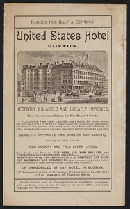New vest pocket map of Boston and surrounding country, Tilly Haynes, United States Hotel, Boston, Mass., 1897