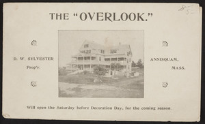 Brochure for The Overlook, Rockland Avenue, Annisquam, Mass., undated