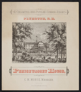 Brochure for the Pemigewasset House, summer resort, Plymouth, New Hampshire, 1880