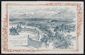 Postcard for Mt. Pleasant House, White Mountains, New Hampshire, 1895