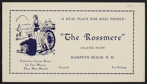 Brochure for The Rossmere, Island Path, Hampton Beach, New Hampshire, undated