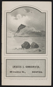 Trade card for James J. Goodrich, fire and marine insurance, 20 Central Street, Boston, Mass., 1880