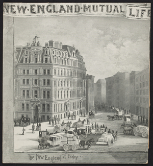 New England Mutual Life, insurance, Boston, Mass., 1885