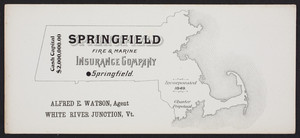 Trade card for the Springfield Fire & Marine Insurance Company, Springfield, Mass., undated