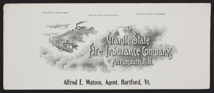 Trade cards for The Granite State Fire Insurance Company of Portsmouth, New Hampshire, undated