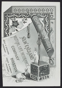 Trade card for the New England Mutual Life Insurance Company, Boston, Mass., undated