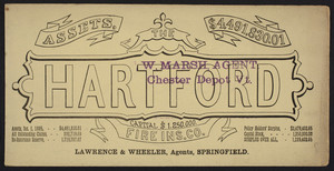 Trade card for the Hartford Fire Insurance Company, Hartford, Connecticut, 1885