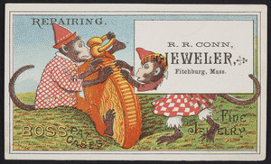 Trade card for R.R. Conn, jeweler, Fitchburg, Mass., undated