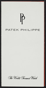 Brochure for Patek Philippe, watches, location unknown, undated