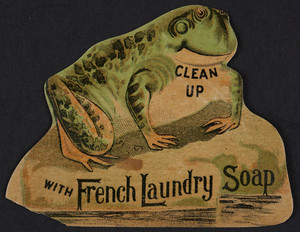Trade card for French Laundry Soap, Kendall Mfg. Co., Providence, Rhode Island, undated