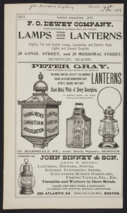 Advertisements for Boston lamp and lantern dealers, Boston, Mass., 1901